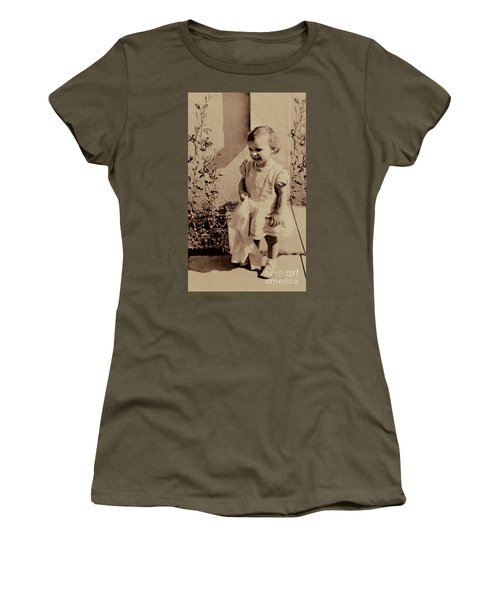 Women's T-Shirt (Junior Cut) featuring the photograph Child Of  The 1940s by Linda Phelps