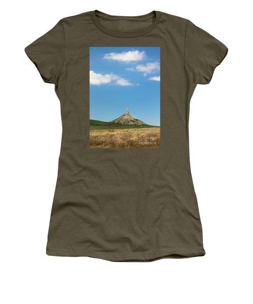 Chimney Rock Nebraska Women's T-Shirt (Athletic Fit)