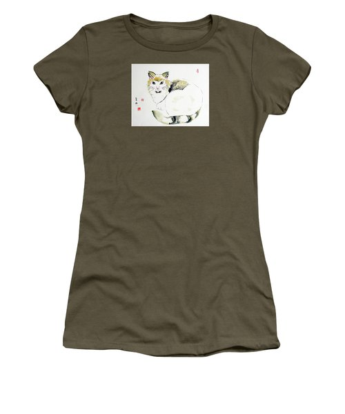 China Cat Women's T-Shirt (Athletic Fit)