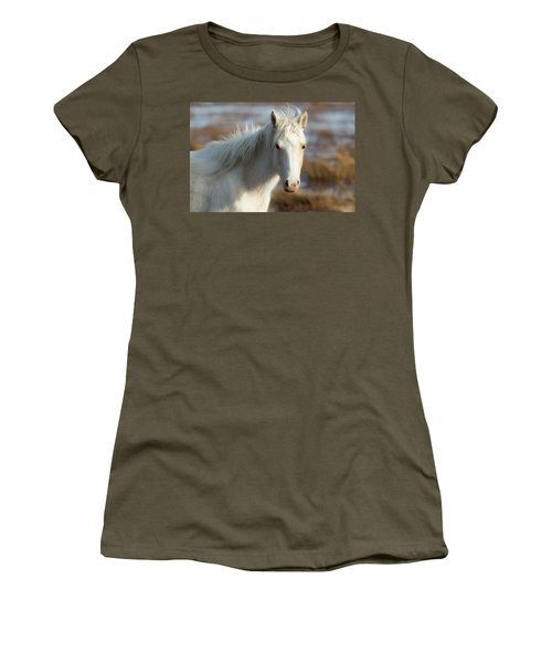Chincoteague White Pony Women's T-Shirt (Athletic Fit)