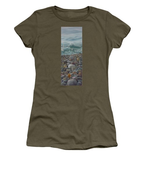 Women's T-Shirt featuring the painting Chios Pebbles by Caroline Philp