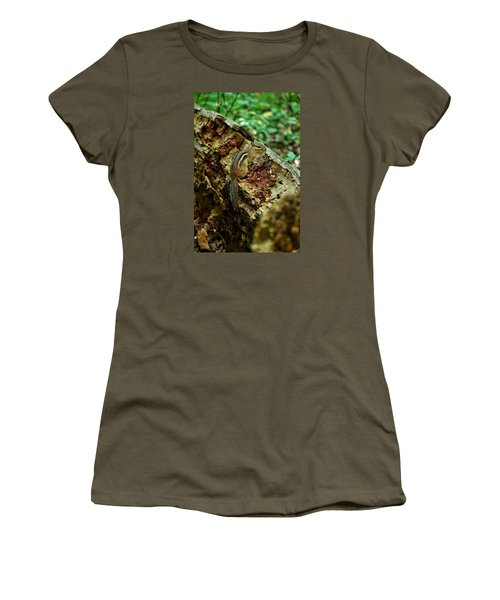 Chipmunk Women's T-Shirt (Junior Cut) by Nikki McInnes
