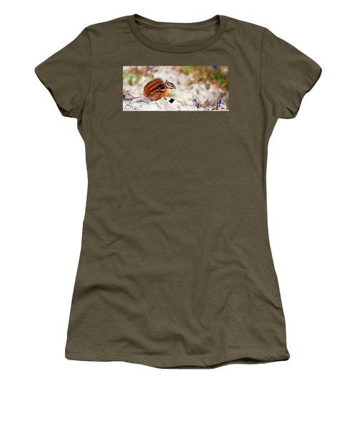 Women's T-Shirt (Junior Cut) featuring the digital art Chipper by Timothy Hack