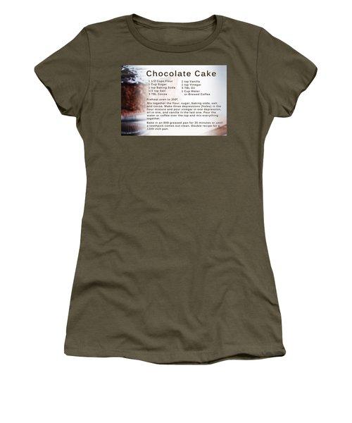 Chocolate Cake Recipe Women's T-Shirt
