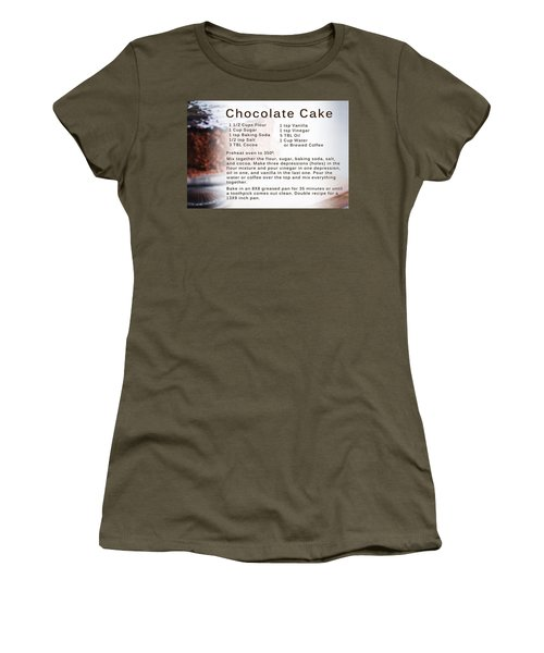 Chocolate Cake Recipe Women's T-Shirt