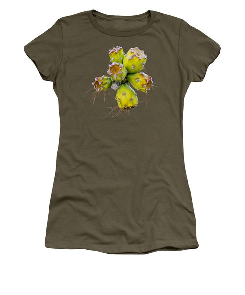 Women's T-Shirt (Athletic Fit) featuring the photograph Cholla Fruit S48 by Mark Myhaver