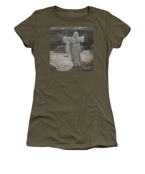 Christ Retreats To The Mountain At Night Women's T-Shirt