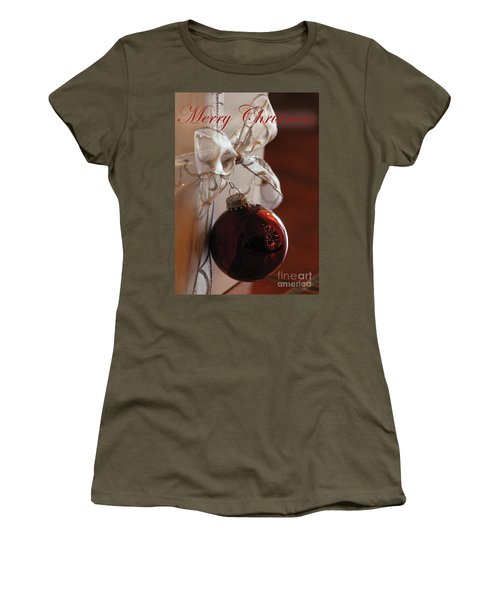 Christmas Ball And Bow Women's T-Shirt (Athletic Fit)