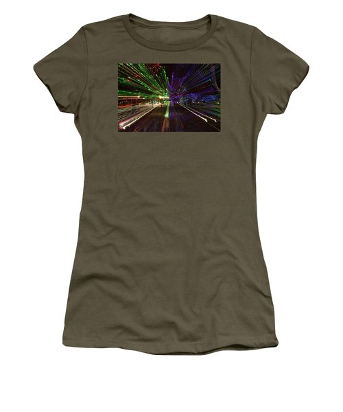 Christmas Exploding Women's T-Shirt (Athletic Fit)