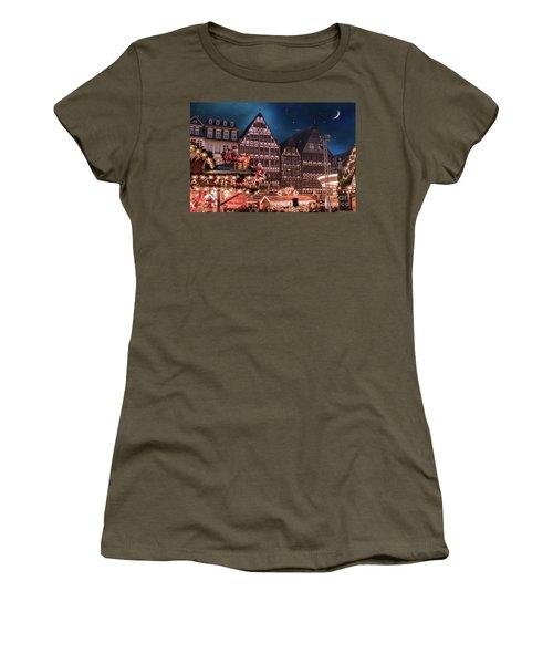 Women's T-Shirt (Junior Cut) featuring the photograph Christmas Market by Juli Scalzi