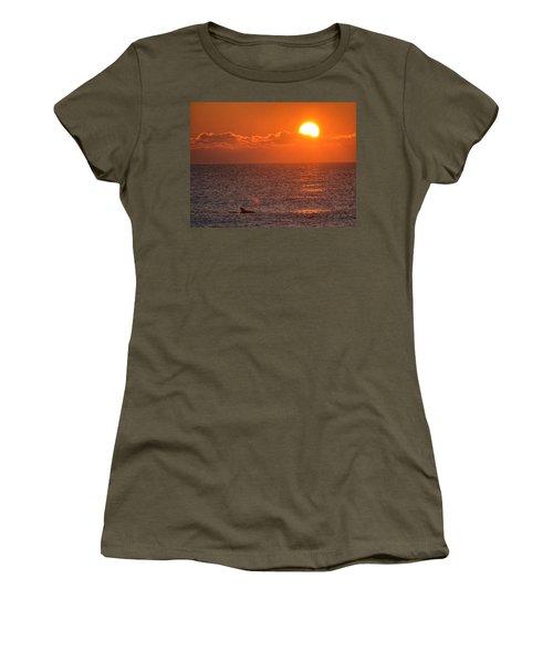 Christmas Sunrise On The Atlantic Ocean Women's T-Shirt