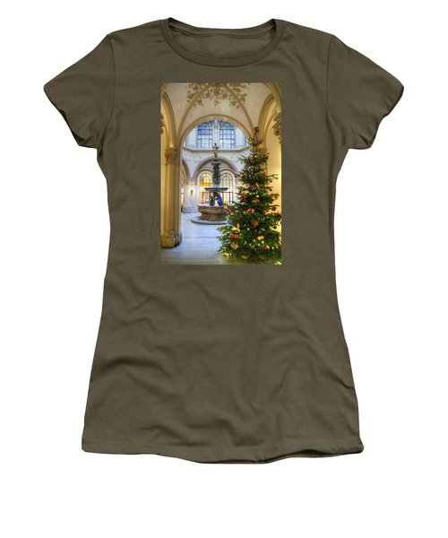 Christmas Tree In Ferstel Passage Vienna Women's T-Shirt