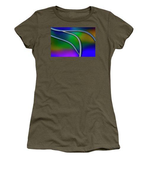 Women's T-Shirt (Junior Cut) featuring the photograph Chrome by Paul Wear