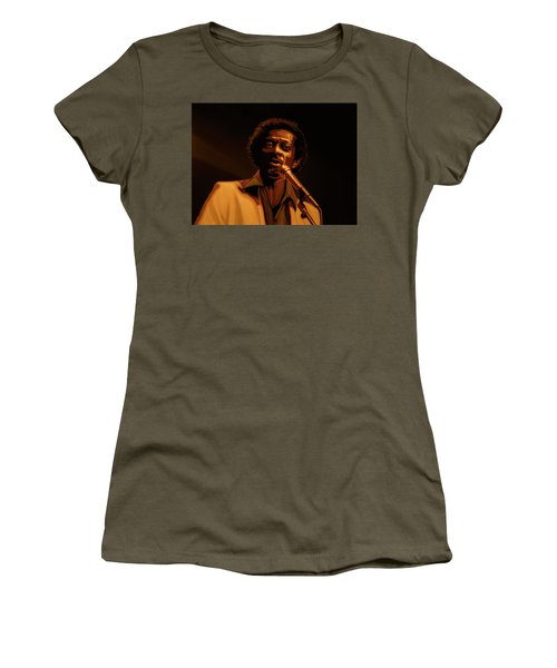 Chuck Berry Gold Women's T-Shirt (Junior Cut) by Paul Meijering