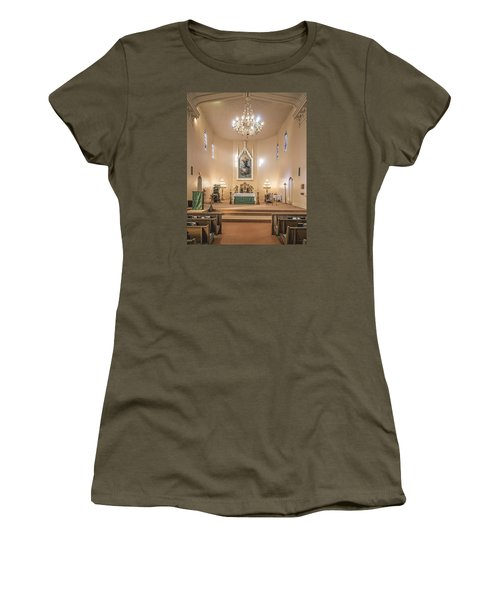 Women's T-Shirt (Junior Cut) featuring the photograph Church Of The Assumption Of The Blessed Virgin Altar by Andy Crawford