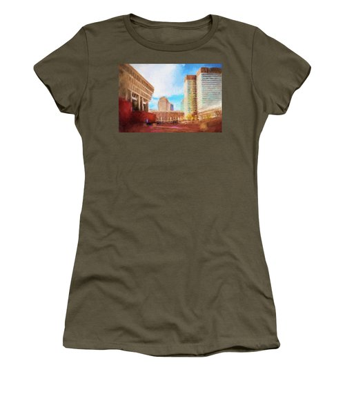 City Hall At Government Center Women's T-Shirt (Athletic Fit)