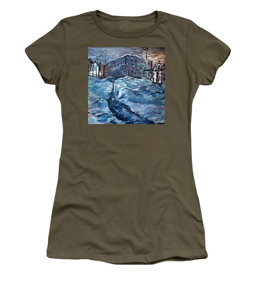 City Snow Storm Women's T-Shirt