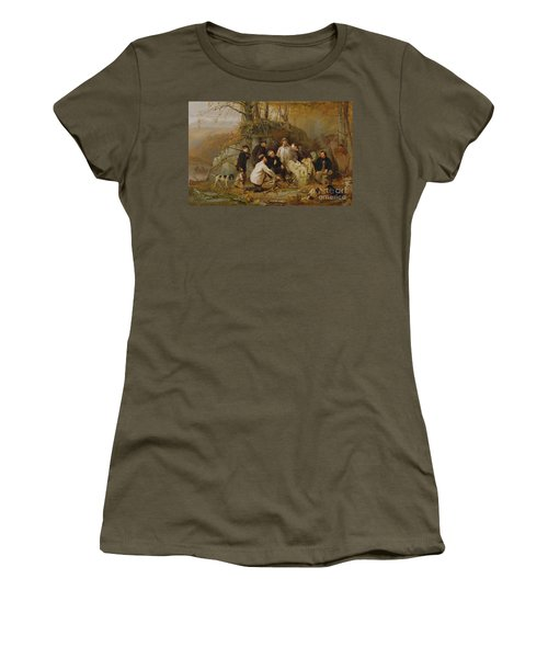 Claiming The Shot - After The Hunt In The Adirondacks Women's T-Shirt