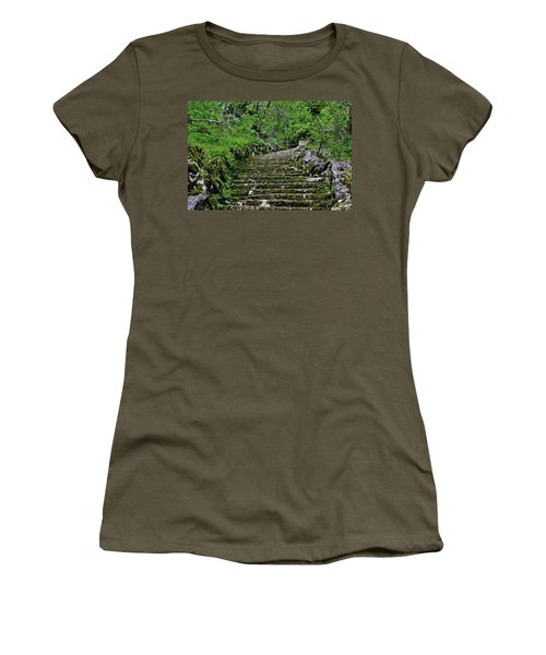 Women's T-Shirt (Junior Cut) featuring the photograph Clark Reservation  by Suzanne Stout