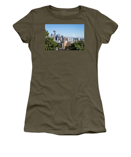 Classic View Of Seattle, Usa Women's T-Shirt