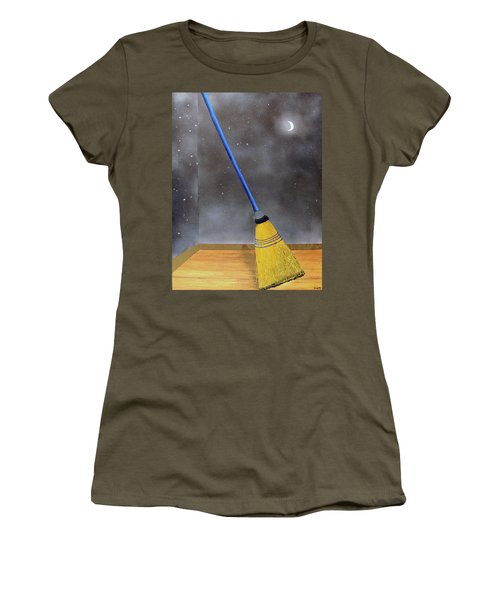 Women's T-Shirt (Junior Cut) featuring the painting Cleaning Out The Universe by Thomas Blood