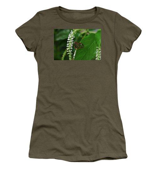 Clearwing Butterfly Women's T-Shirt (Junior Cut) by Ronda Ryan