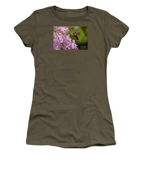 Women's T-Shirt (Junior Cut) featuring the photograph Clearwing Pink by Randy Bodkins