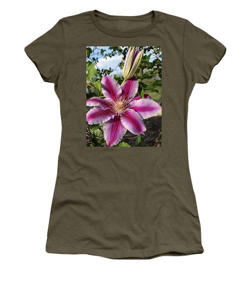 Clematis Petals Women's T-Shirt (Athletic Fit)