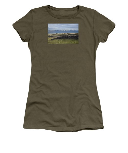 Cliffs Of Moher From Inisheer Women's T-Shirt (Athletic Fit)