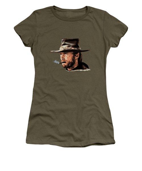 Women's T-Shirt (Junior Cut) featuring the digital art Clint by Andrzej Szczerski