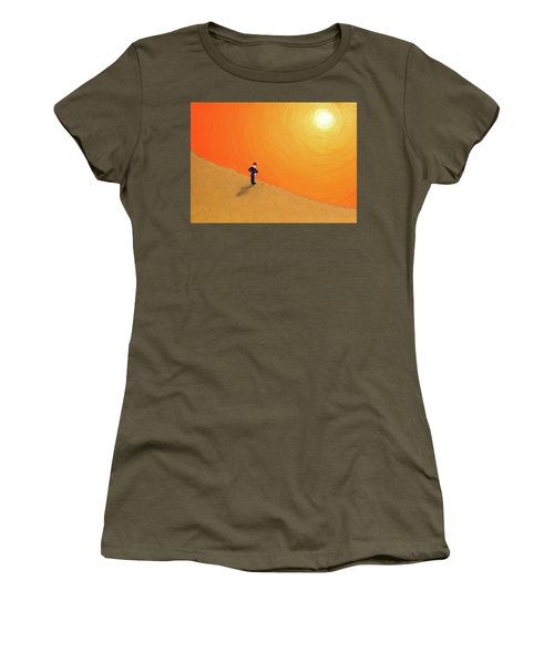 Women's T-Shirt (Junior Cut) featuring the painting Close To The Edge by Thomas Blood
