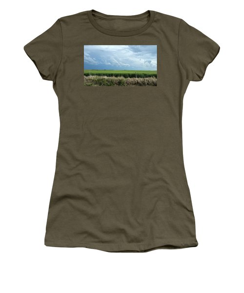 Cloud Gathering Women's T-Shirt (Junior Cut) by Sylvia Thornton