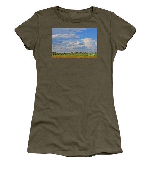 Clouds Aboive The Tree Farm Women's T-Shirt