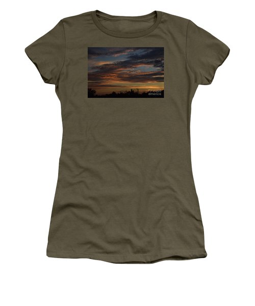 Cloudy Kansas Evening Women's T-Shirt (Athletic Fit)