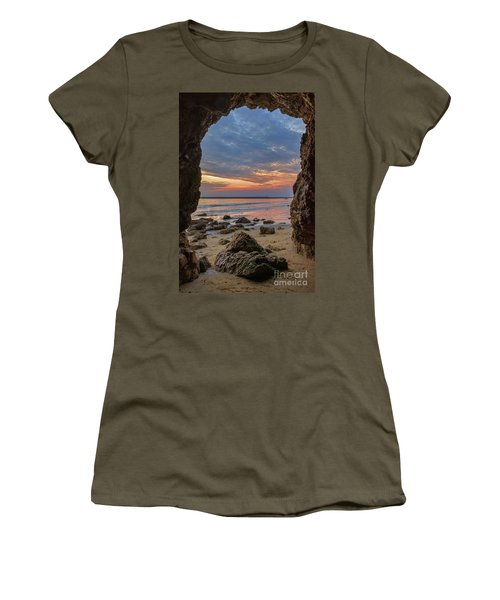 Cloudy Sunset At Low Tide Women's T-Shirt