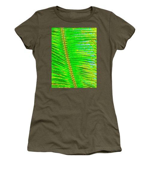 Coconut Palm Leaf Aloha Women's T-Shirt
