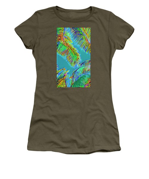 Coconut Palms Psychedelic Women's T-Shirt