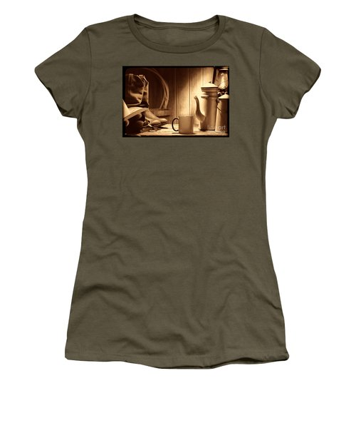 Coffee At The Ranch Women's T-Shirt