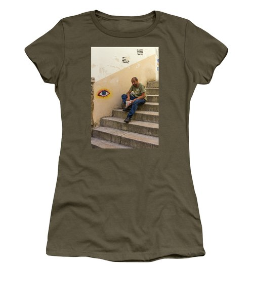Women's T-Shirt (Junior Cut) featuring the photograph Coimbra  Local  by Patricia Schaefer