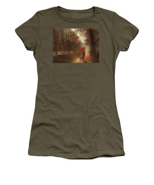 Cold Autumn Morning Painting Women's T-Shirt