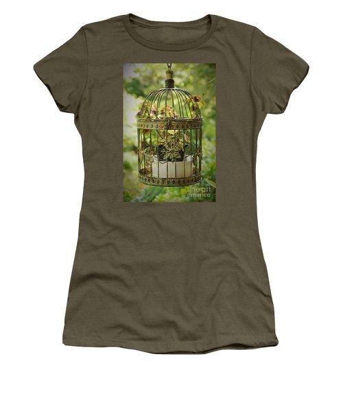 Coleus In Vintage Birdcage Women's T-Shirt
