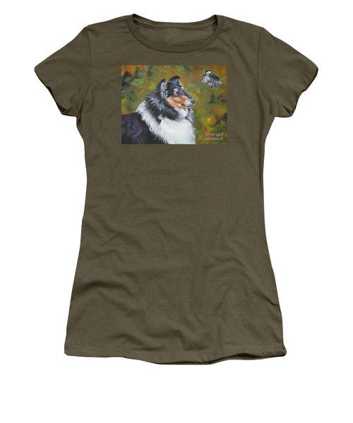 Collie Chickadee Women's T-Shirt