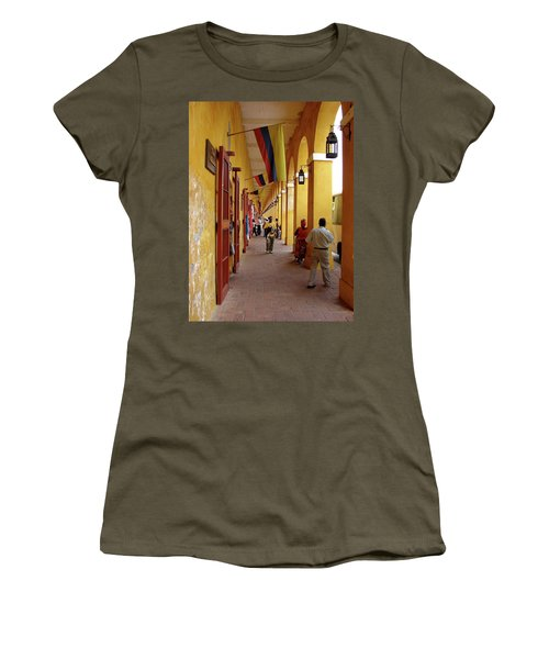 Colombia Walkway Women's T-Shirt (Athletic Fit)