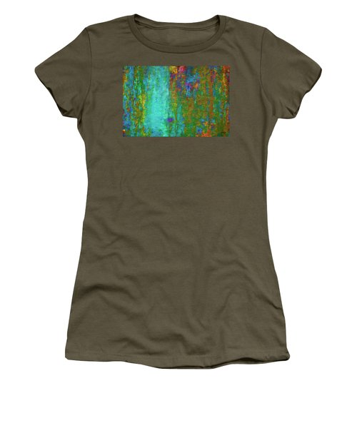 Color Abstraction Lxvii Women's T-Shirt (Junior Cut) by David Gordon