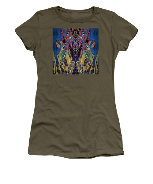Color Abstraction Xxi Women's T-Shirt (Athletic Fit)