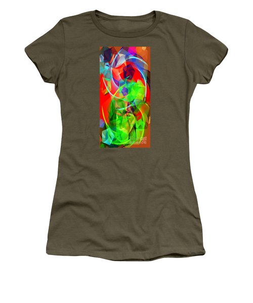 Women's T-Shirt (Athletic Fit) featuring the digital art Color Dance 3720 by Rafael Salazar
