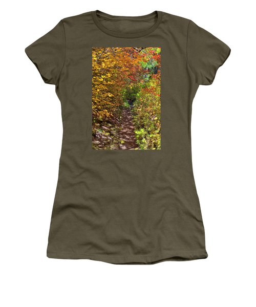 Cascade Mountain Range Color Vortex Women's T-Shirt
