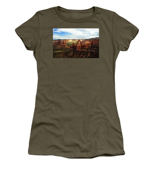 Colorado National Monument Women's T-Shirt (Junior Cut) by Marilyn Hunt