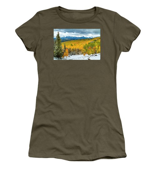 Colorado Valley Of Autumn Color Women's T-Shirt (Junior Cut) by Teri Virbickis