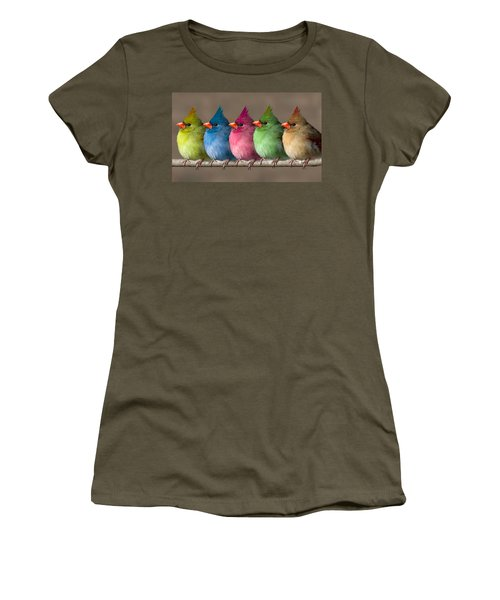 Colored Chicks Women's T-Shirt (Junior Cut) by John Haldane